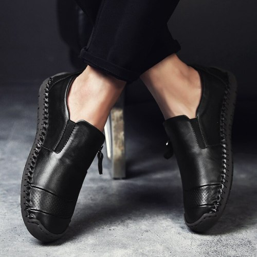 Leather Men Casual Shoes Luxury Brand 2020 Mens Loafers Moccasins Breathable Slip on Black Driving Shoes Pls Size 38-48