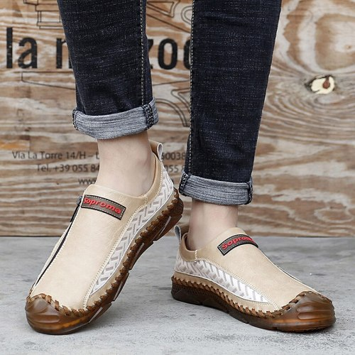 Big Sizes 6-13 New Leather Shoes Men Casual Moccasins Loafers Adult Men Breathable High Quality Footwear Slip on Male Sneakers