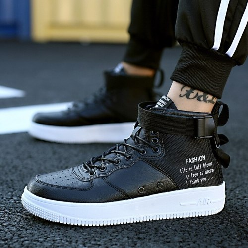 Fashion Black High Top Sneakers Casual Platform Shoes For Men Outdoor Sneakers Men Shoes Running Trainers