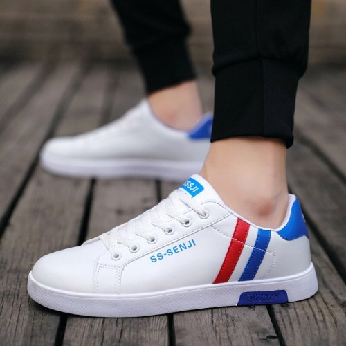 Hot PU Leather Spring Summer Sneakers Man Running Shoes for Men Sport Shoes Men's Sports Shoes Male Blue Basket Workout