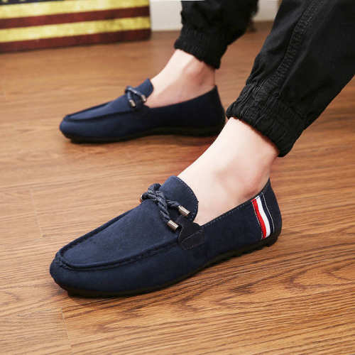 Men's casual shoes new leather autumn breathable hole shoes luxury brand flat shoes men's soft bottom driving shoes anti-fall