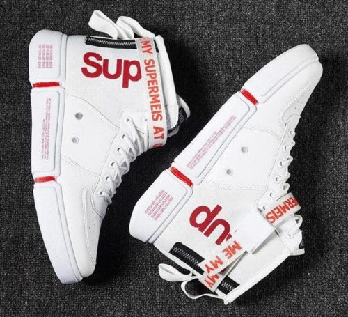 High Quality Leather Men's Casual Shoes Man Sneakers High Top Sport Male Shoes Comfortable Waterproof Men Boot