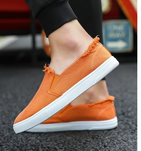 2021 New arrival Low price Mens Breathable High Quality Casual Shoes Jeans Canvas Casual Shoes Slip On men Fashion Flats Loafer