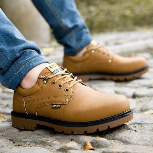 Men's Casual Shoes New Fashion High Quality PU Outdoor Tenis Masculino Adulto Shoes Casual Wild Martin Shoes