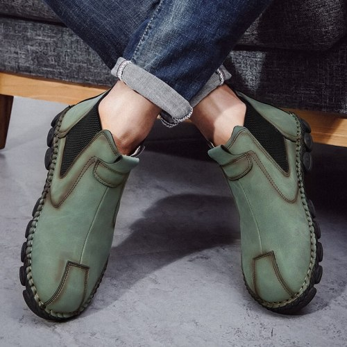 Autumn High Top Men's Casual Shoes Big Size 48 Slip On Loafers Shoes Comfortable Protect Toes Designer Shoes Men zapatos hombre