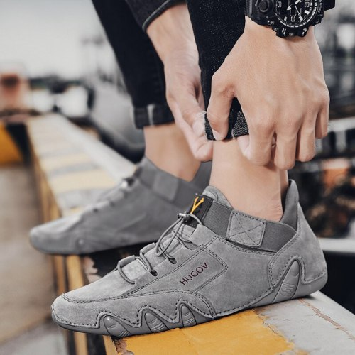 Designer Men's Trend Casual Leather Loafers Breathable Driving Shoes Driving Non Slip Flats Sneakers Mocassin Homme