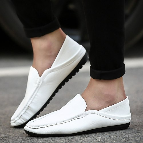 Summer Light Loafers Shoes Men Conveniently Slip on Casual Shoes for Man Breathable Soft Peas Lazy Driving Shoe Two ways of wear