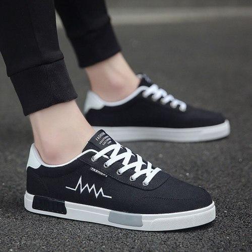 New arrival 2021 Men Vulcanize Shoes Classic Canvas Shoes Lightweight Walking Shoes Non-slip Sneakers Men Flat Rubber Shoes