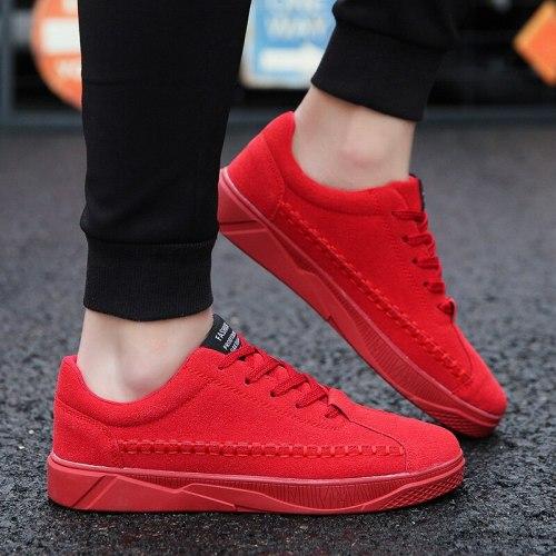 2021 Men Canvas Shoes Fashion Solid Color Men Vulcanized Shoes Lace-up White Casual Shoes Men Sneakers