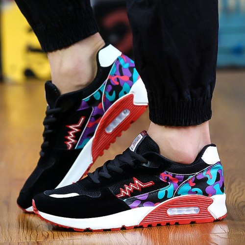 2021 Spring and Summer Fashion Comfortable Non-slip Men's Casual Sports Shoes Breathable Mesh Running Air Cushion Men's Shoes