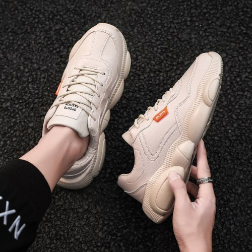 New Men's Shoes Korean Version of The Trend of Sports Small White Board Shoe Wild Casual Bear White Shoe Old Fashion Shoe