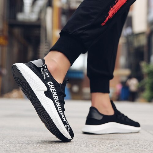 2021 New Fashion Net Surface Light Outdoor Fitness Wild Breathable Non-leather High Quality Wear-resistant Men's Casual Sneakers