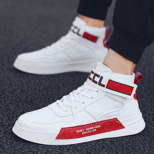 Men's Running Shoes High Top Casual Sneakers Chaussure Homme Breathable Street Shoes Sports Shoes Hip Hop Walking Shoes