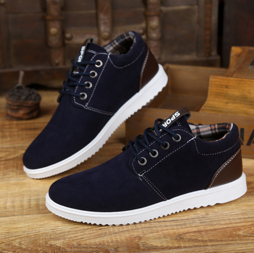 High Top Sneakers British Mens Shoes Casual Moccasin Shoes Men Leather Designer Shoes Men High Quality Chaussure Homme