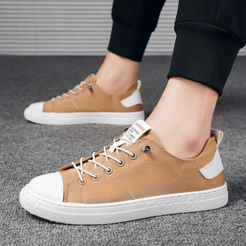New Men Fashion Casual Canvas Shoes Lace Up Comfortable Board Shoes Breathable Trend Outdoor Men Casual Sneakers Trend