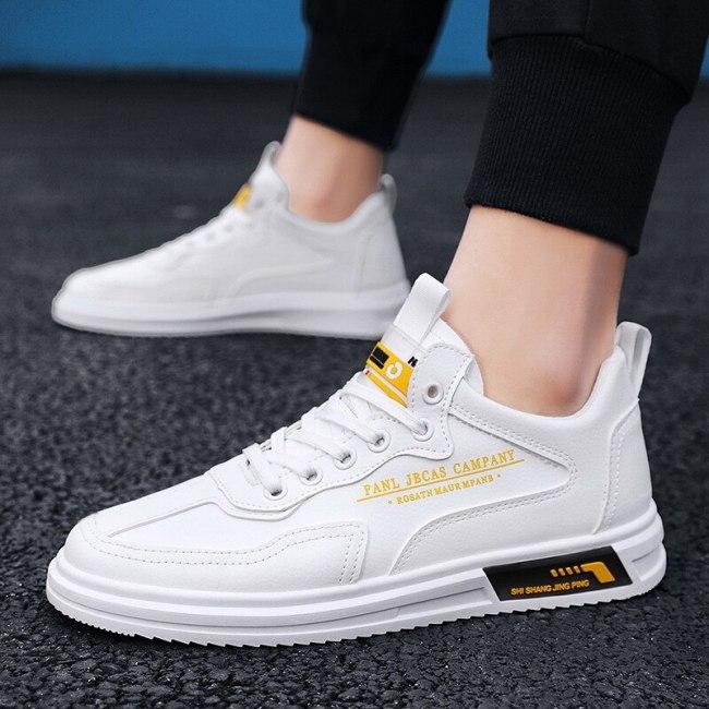 Breathable Sneakers Men Fashion White Mens Shoes Trendyol Flat Light Black Men Casual Shoe Running Sneaker Chaussure Homme 2021