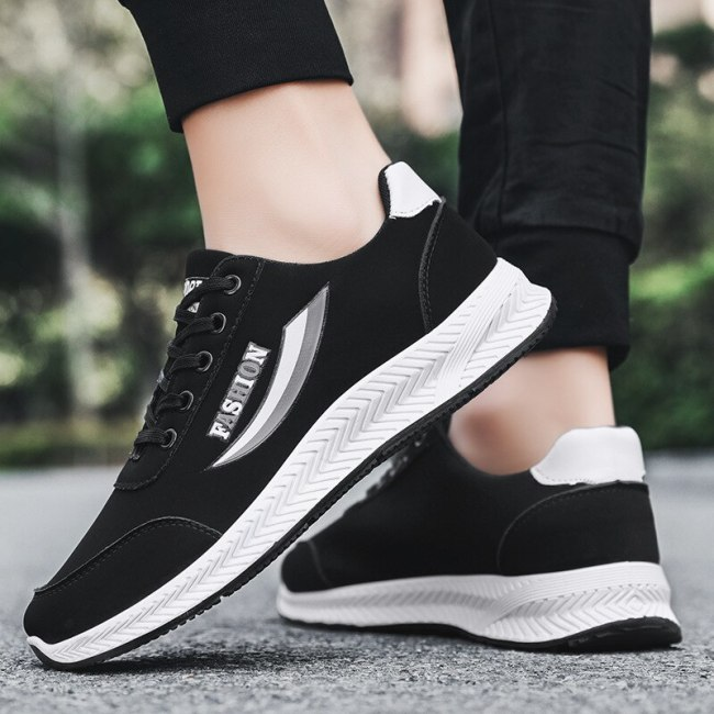 Casual Running Shoes for Men Fashion Sneakers Comfortable Platform Shoes Lace Up Men's Vulcanize Shoes