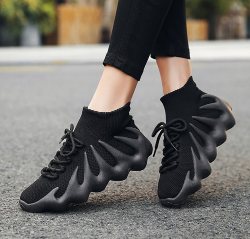 Mesh Women Sneakers Flats Socks Shoes 2021 Summer Breathable Cross Tie Round Toe Casual Fashion Sport Female