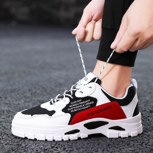 Men running shoes outside non-slip lace-up versatile small white men's shoes casual board shoes off white shoes  sneakers