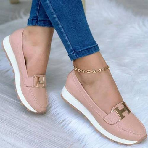 2021 Women's Shoes Non Slip Wearable Belt Buckle Platform Shoes Casual Fashion Comfortable Women Walking Shoes Sneakers Loafers