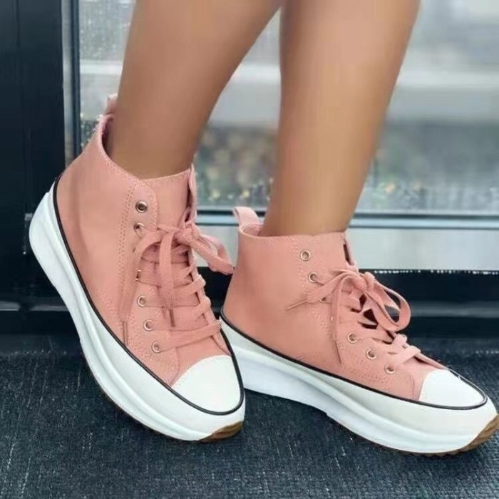 2021 Women Run Star Sneakers High Top Platform Women Sports Shoes White Black Casual Fashion Canvas Shoes