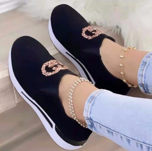Sneaker Fashion Women's Shoes Autumn 2021 New Flat Comfortable Set Foot Outdoor Casual Shoes Shallow Mouth Walking Running Shoes