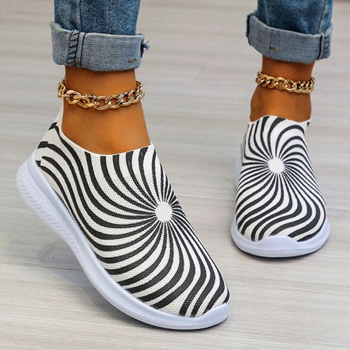 Women Sneakers Casual Breathable Net Cloth Shoes Wedges Slip-on Female Sneakers Woman Vulcanize Shoes Walking