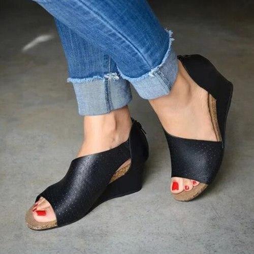 Summer Women High Heels Wedges Sandals Fashion Platform Shoes Ladies Sexy Open Toe Sandals Dropshipping Fulfillment Drop Ship