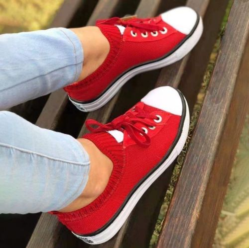New Women's Fashion Casual Lace Up Breathable Mesh Thick Soled Sports Shoes Comfortable Hot Women's Sports Shoes KP167
