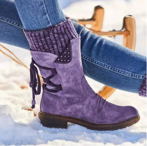 2021 Women boots Winter Mid-Calf Boot Winter Shoes Ladies Fashion Snow Boots Shoes Thigh High Suede Warm Botas