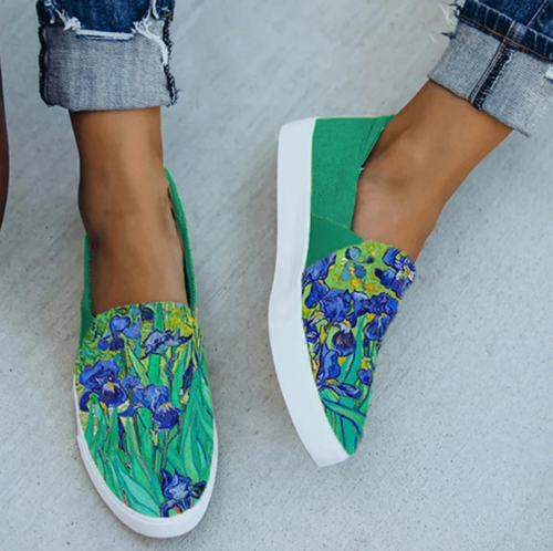 Summer Women Loafers New Slip On Leopard Print Lady Casual Shoes Fashion Patchwork Comfortable Flat Female Canvas Shoes