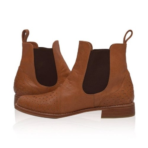 Autumn New Products Women's Boots Classic Suede Chelsea Boots Short Plush Low-heeled Carved Cow Ankle Boots
