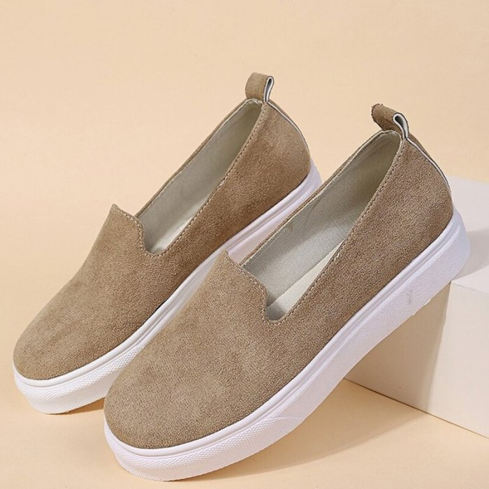 Women's Shoes Summer New Fashion Solid Color Flat Canvas Shoes Plus Size European And American Leisure Comfortable Single Shoes