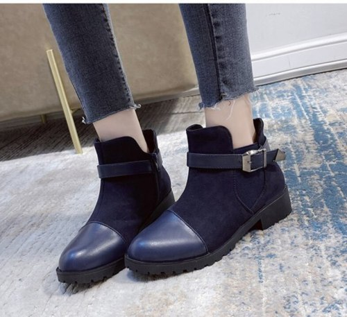 Breathable Women Shoes Ankle Boots Zipper Leather Round Head Fashion Autumn Winter Korean Warm Mart Boots