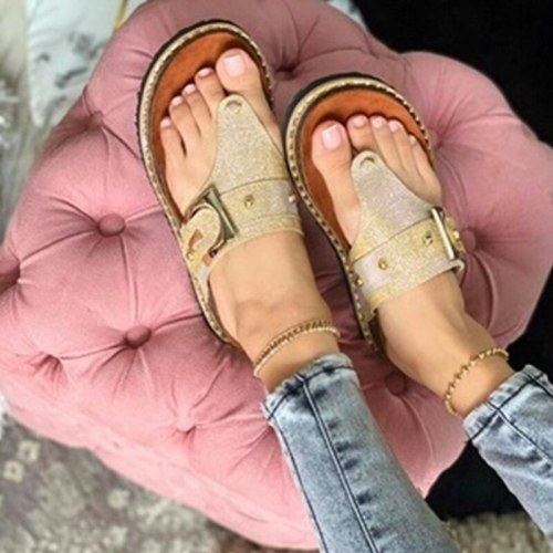 2021 Summer Women's Sandals Wear Resistant and Breathable Flat Slippers Casual Fashion Comfortable Indoor Slippers Flip Flops