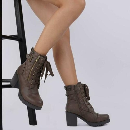 Martin leather high boots heel Women women shoes woman booties vintage ethic shoe chaussures femme