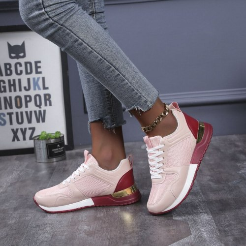 Women Autumn New Fashion Casual Shoes Height Increasing Sport Wedge Shoes Air Cushion Comfortable Sneakers