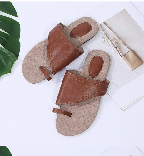 Women Comfy Plain Shoes Flat Platform Ladies Casual Big Toe Foot Correction Sandals Orthopedic Bunion Corrector Flip Flop