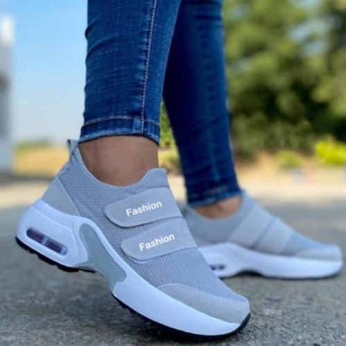 2021 Women Fashion Vulcanized Sneakers Platform Solid Color Flats Ladies Shoes Casual Breathable Wedges Ladies Walking Sneakers