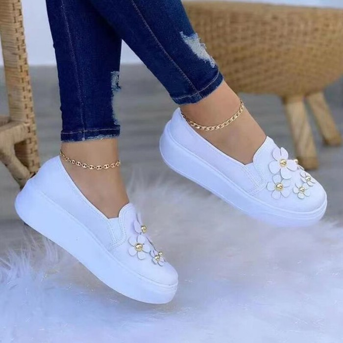 Spring Autumn Women Shoes Breathable Wear Resistant Floral Shoes Casual Fashion Women's Sneakers Running Shoes Vulcanized Shoes