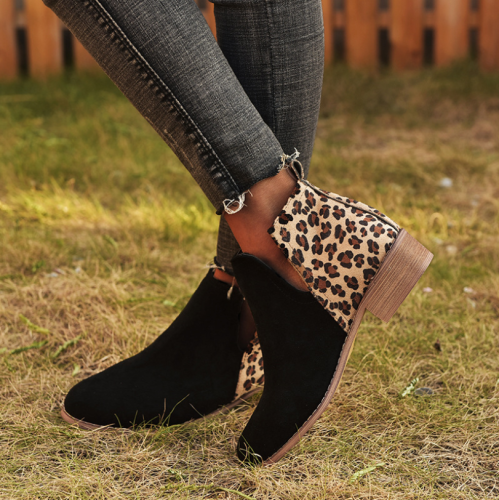 2021 Fashion Round Toe High Heel Boots Women Pumps Thick Heel Plus Size  Boots Winter Women Shoes