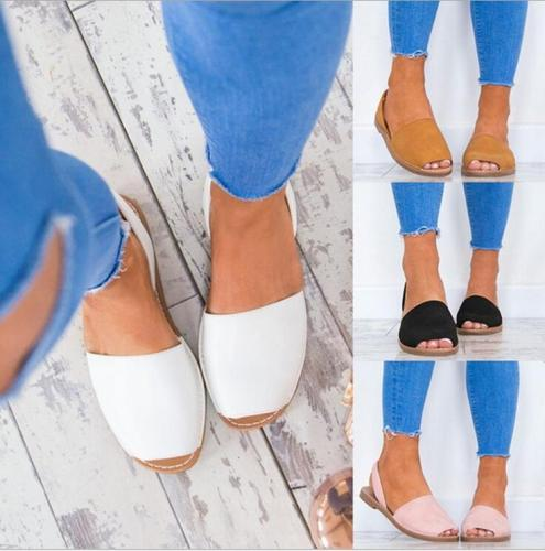 Hot style Flat sandals Fish mouth shoes Soft bottom large size for foreign trade Lady sandals fisherman shoes