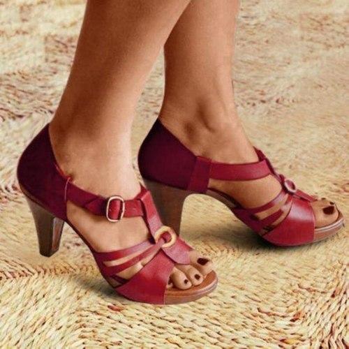 New Style Elegant Strap Sandals Women 2021 Sandals Female Bohemian Style Summer Fashion High Heels Women's Shoes Footwea