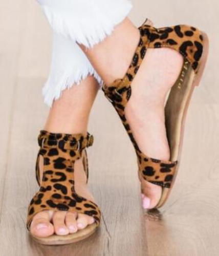 2021 New Women Sandals Large Size Fish Mouth Flat Belt Buckle Explosion Sandals Female
