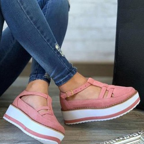 Drop Shipping Women Shoes 2021 Platform Sandals Female Ladies Fashion Shoe Woman Shoes Casual Solid Plus Size Women's Shoes