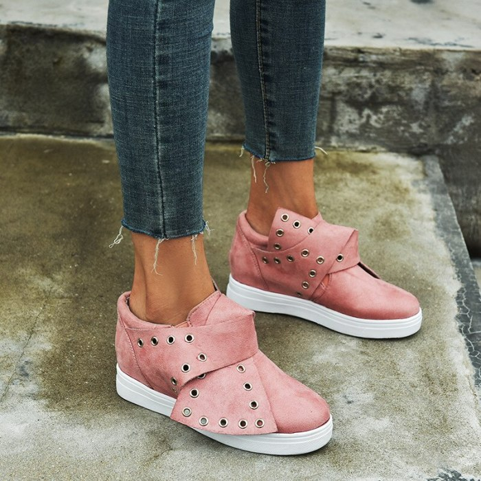 Fashion Loafers Height Increasing 2021 Metal Hole Women New Spring Flats Causal Shoes Solid Sneakers Slip-on Women Shoes