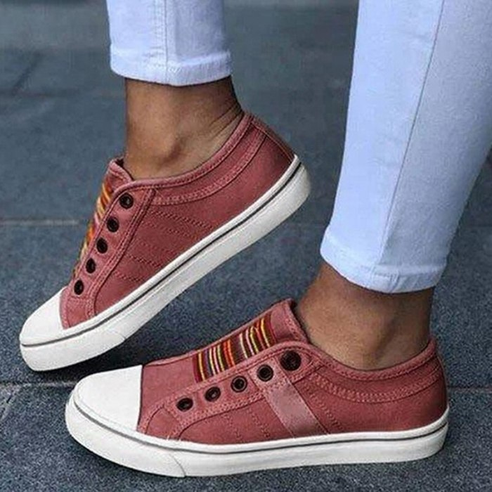 2021 Low-cut Trainers Canvas Flat Shoes Women Casual Vulcanize Shoes New Women Summer Autumn Sneakers Ladies