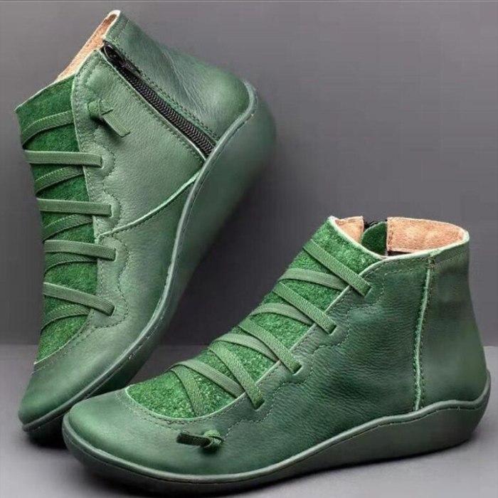 Women Arch Spupport Boots Short Plush Warm Femme Boots Winter Waterproof Women Shoes Ankle PU Women Boots Plus Size