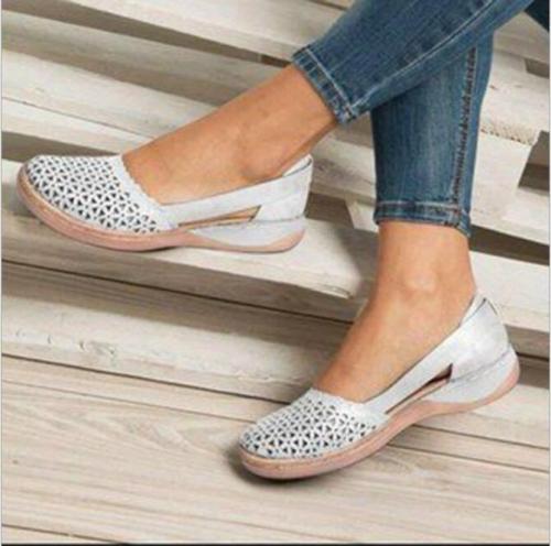 Women Flat Sandals Summer Peep Toe New Plus Size Female Shoes Solid Color Backstrap Comfortable Casual Women's Sandals