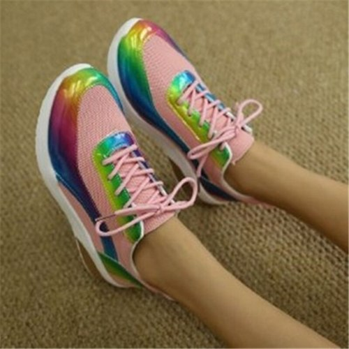 Mixed Color Women's Footwear Autumn Shoes For Woman Casual Sneakers Platform Shoes  Anti-slip Flats Vulcanize Shoe